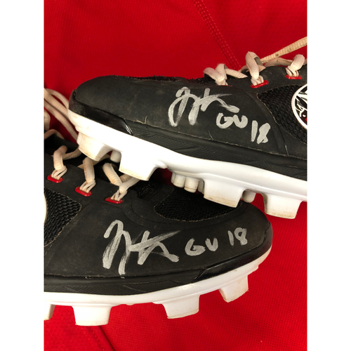 Photo of Joey Votto -- Autographed 2018 Home Cleats -- Inscribed as