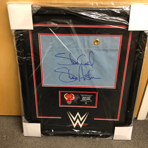 Photo of Stone Cold Steve Austin Signed & Framed Ring Canvas Plaque (#3 of 6)