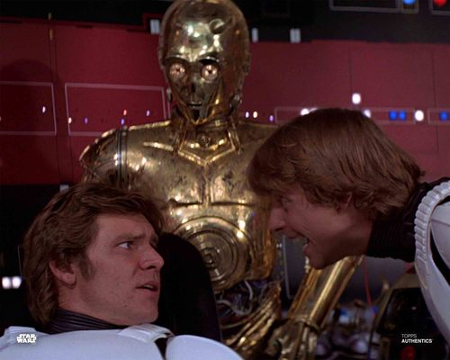 Han Solo, Luke Skywalker and C-3PO