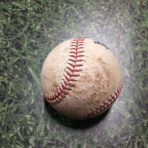 Photo of Game-Used Baseball CHC@MIL 06/13/18 - Jhoulys Chacin - Jason Heyward: Foul