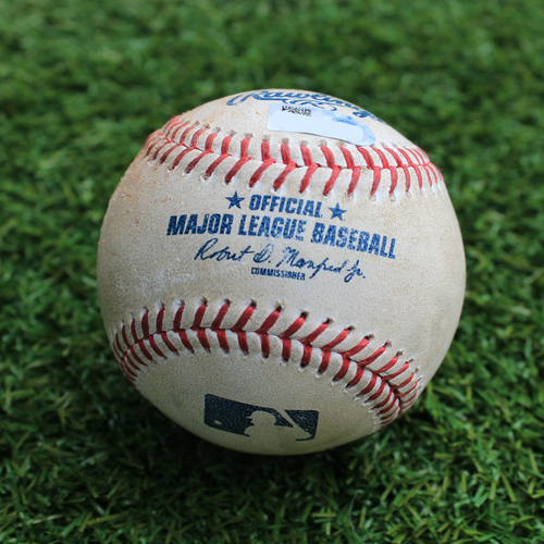 Game-Used Baseball: Joey Gallo 252nd Career Hit (TEX @ KC - 5/16/19)