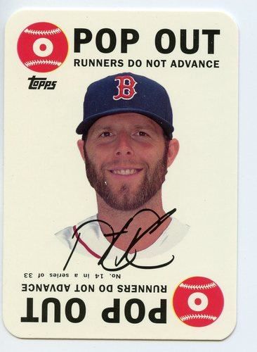 Photo of 2015 Topps Archives '68 Topps Game Inserts #14 Dustin Pedroia