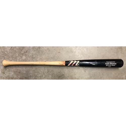 Game Used Broken Bat: Austin Meadows at-bat against Clayton Kershaw - May 21, 2019 v LAD