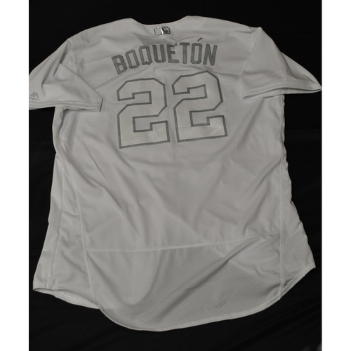 "Photo of Miguel ""Boquetón"" Sano Minnesota Twins Game-Used 2019 Players' Weekend Jersey"