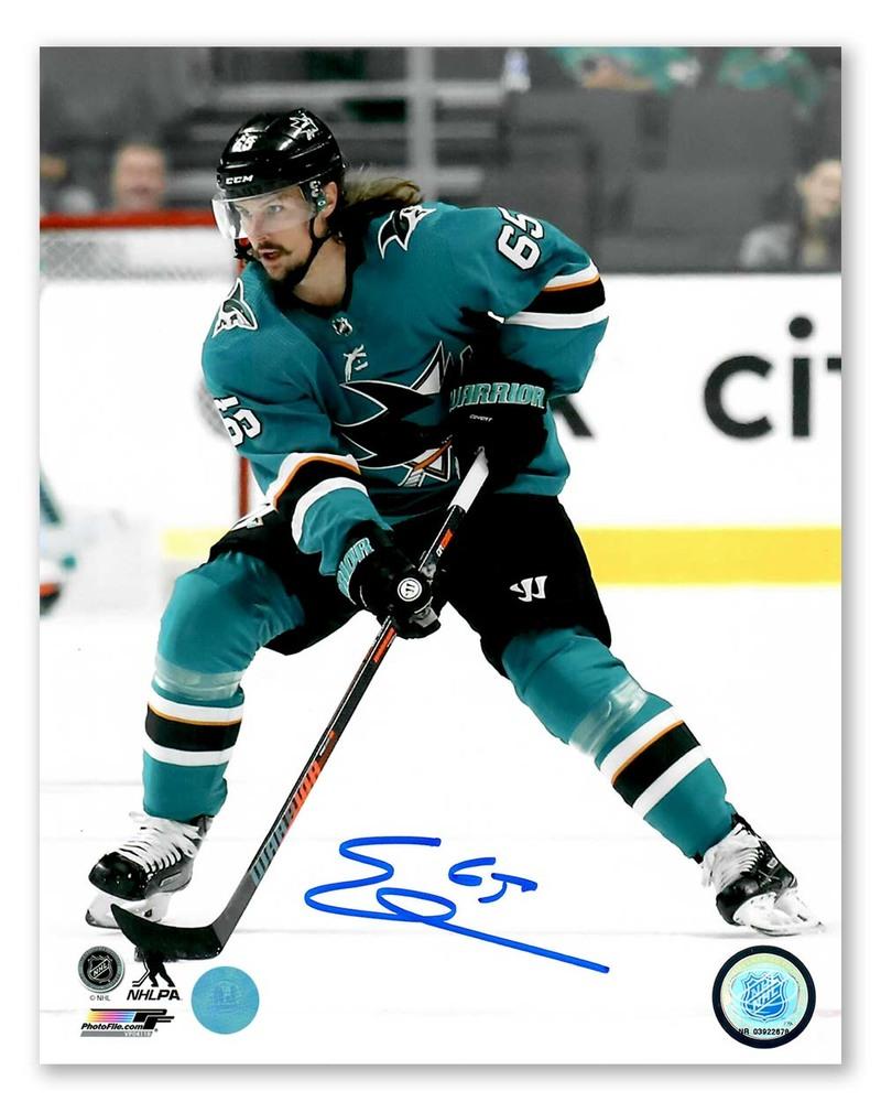 Erik Karlsson San Jose Sharks Autographed Action 8x10 Photo