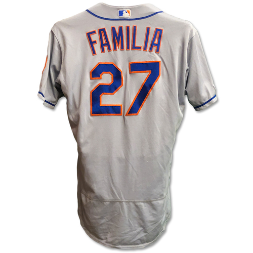 Photo of Jeurys Familia #27 - Game Used Road Grey Jersey - Mets vs. Reds - 9/20/19