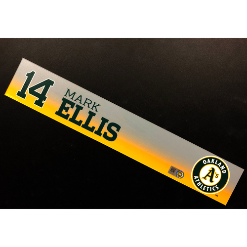 Photo of Game-Used 2019 Spring Training Locker Nameplate - Mark Ellis