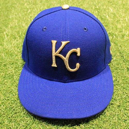 Photo of Game-Used 2020 Gold Hat: Edward Olivares #14 (Size 7 - DET @ KC 9/25/20)