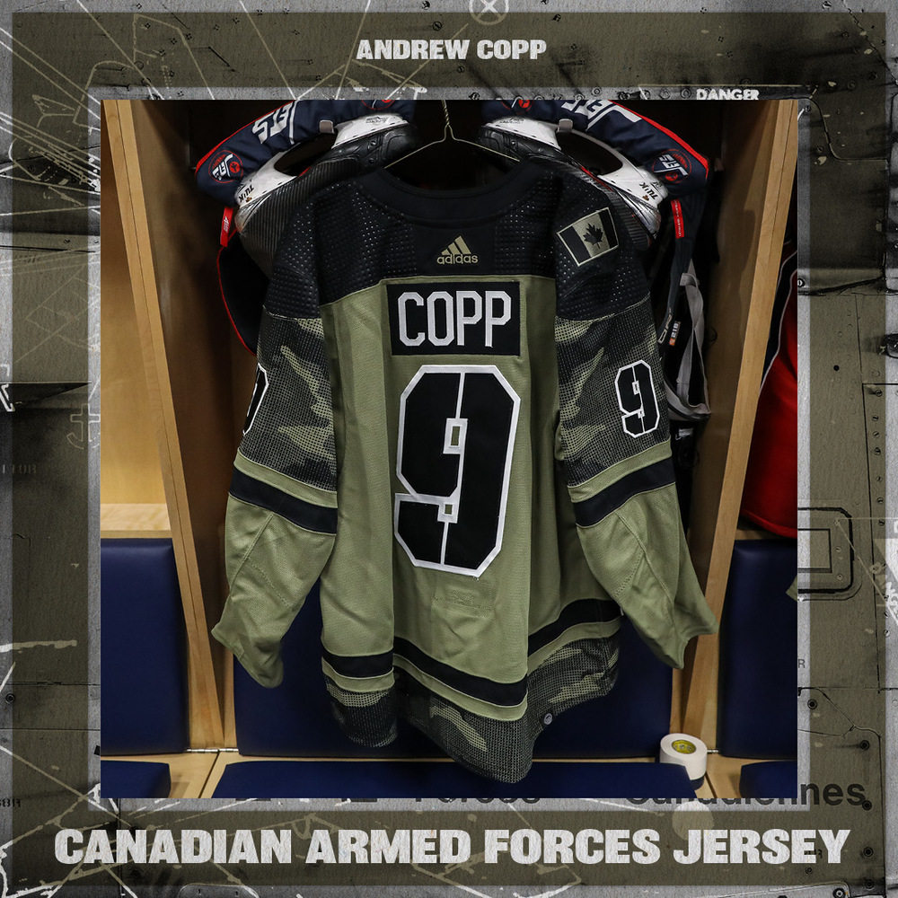 ANDREW COPP Warm Up Worn Canadian Armed Forces Jersey