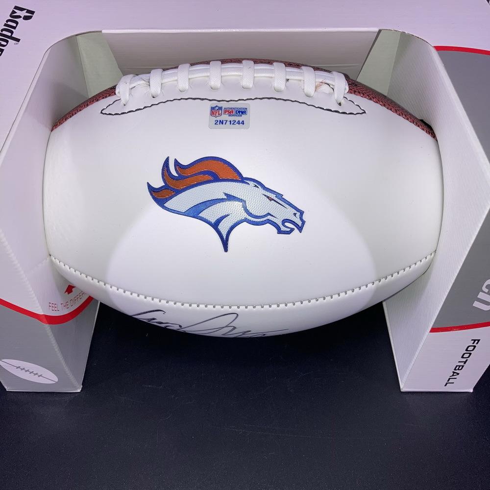 Broncos - Connor McGovern Signed Panel Ball w/ Broncos Logo