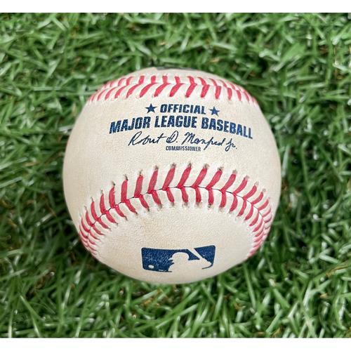 Photo of Game Used ALDS Baseball: Ji-Man Choi single and Austin Meadows foul ball off Matt Barnes - Bottom 9 - October 8, 2021 v BOS