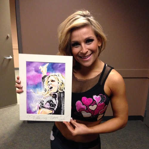 Natalya Signed Painting by Rob Schamberger