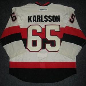 Erik Karlsson - 2014 Heritage Classic - Ottawa Senators - Cream Game-Worn Jersey - Worn in First Period