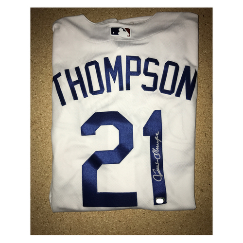 LA Dodgers Foundation Memorabilia Menu: Trayce Thompson Authentic Autographed Jersey