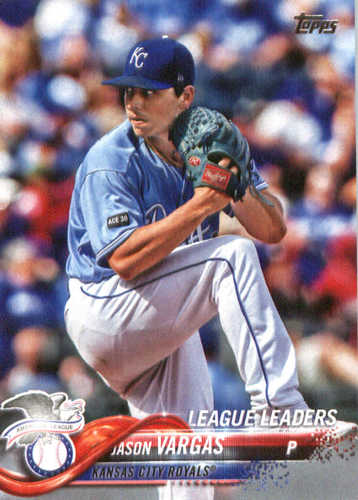 Photo of 2018 Topps #327 Jason Vargas LL