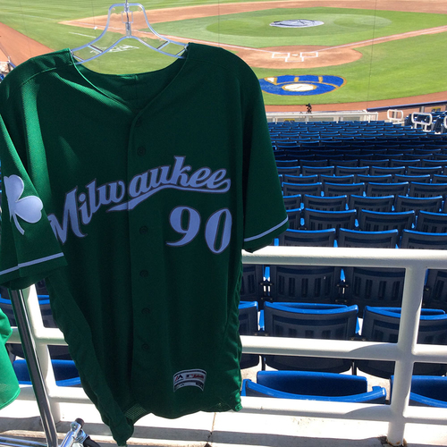 Photo of #90 2018 Team-Issued St. Patrick's Day Jersey