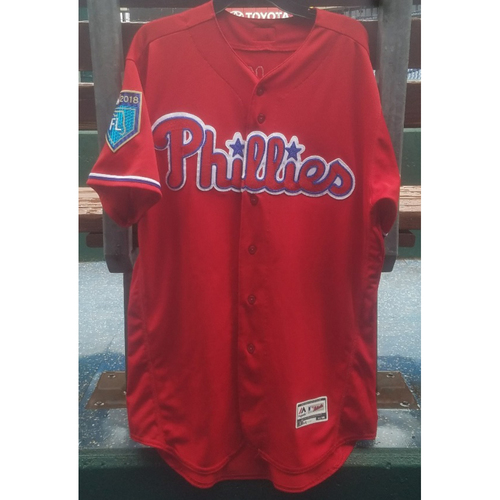 Photo of 2018 Game-Used Rhys Hoskins Spring Training Jersey