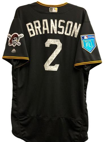 Photo of Jeff Branson Team-Issued 2018 Spring Training Jersey