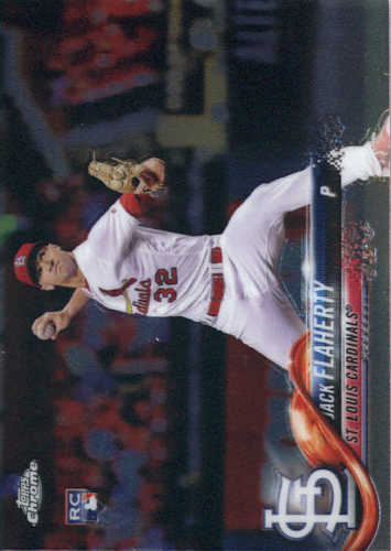 Photo of 2018 Topps Chrome #4 Jack Flaherty RC