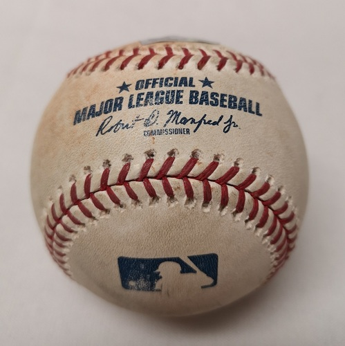 Photo of Authenticated Game Used Baseball - C.J. Cron Single against Jose Fernandez (September 21, 2018 vs TB). Top 6.