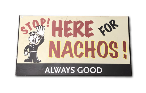 Wrigley Field Collection -- Concourse Sign - 'Here for Nachos'