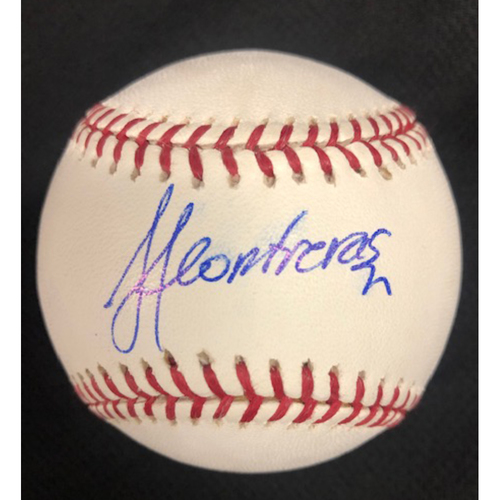 Photo of Jose Contreras Autographed 2005 World Series Baseball