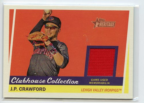 Photo of 2016 Topps Heritage Minors Clubhouse Collection Relics #CCRJC J.P. Crawford
