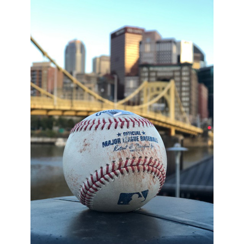 Photo of Game-Used Baseball: Bryan Reynolds Double