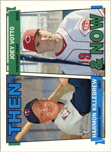Photo of 2016 Topps Heritage Then and Now #TANKV Joey Votto/Harmon Killebrew