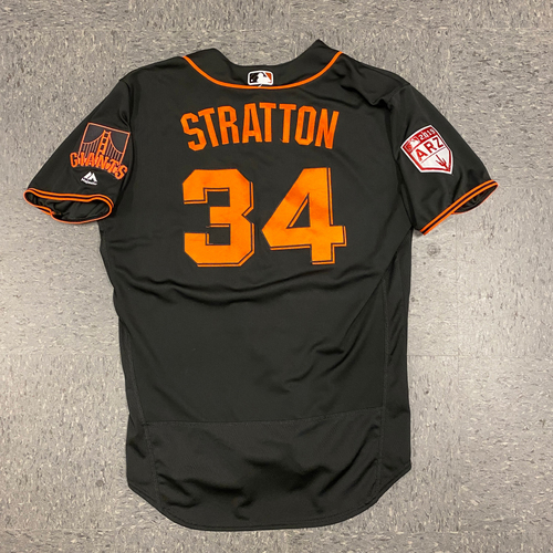 Photo of 2019 Team Issued Spring Training Jersey - #34 Chris Stratton - Size 48