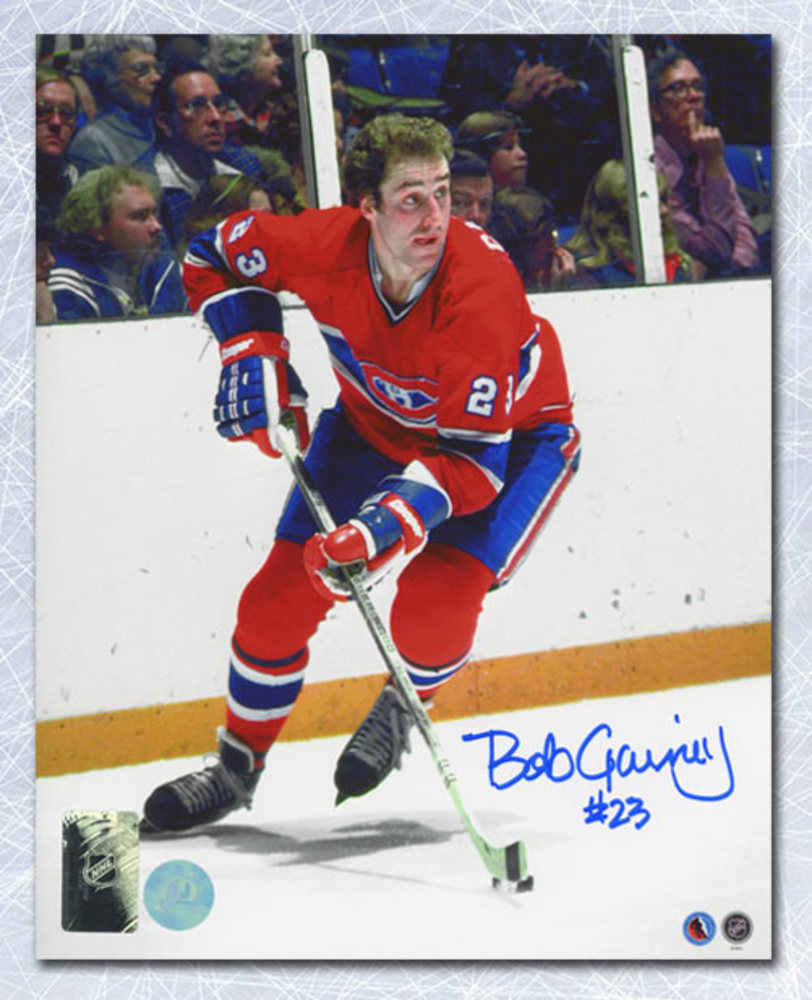 Bob Gainey Montreal Canadiens Autographed Hockey Action 8x10 Photo