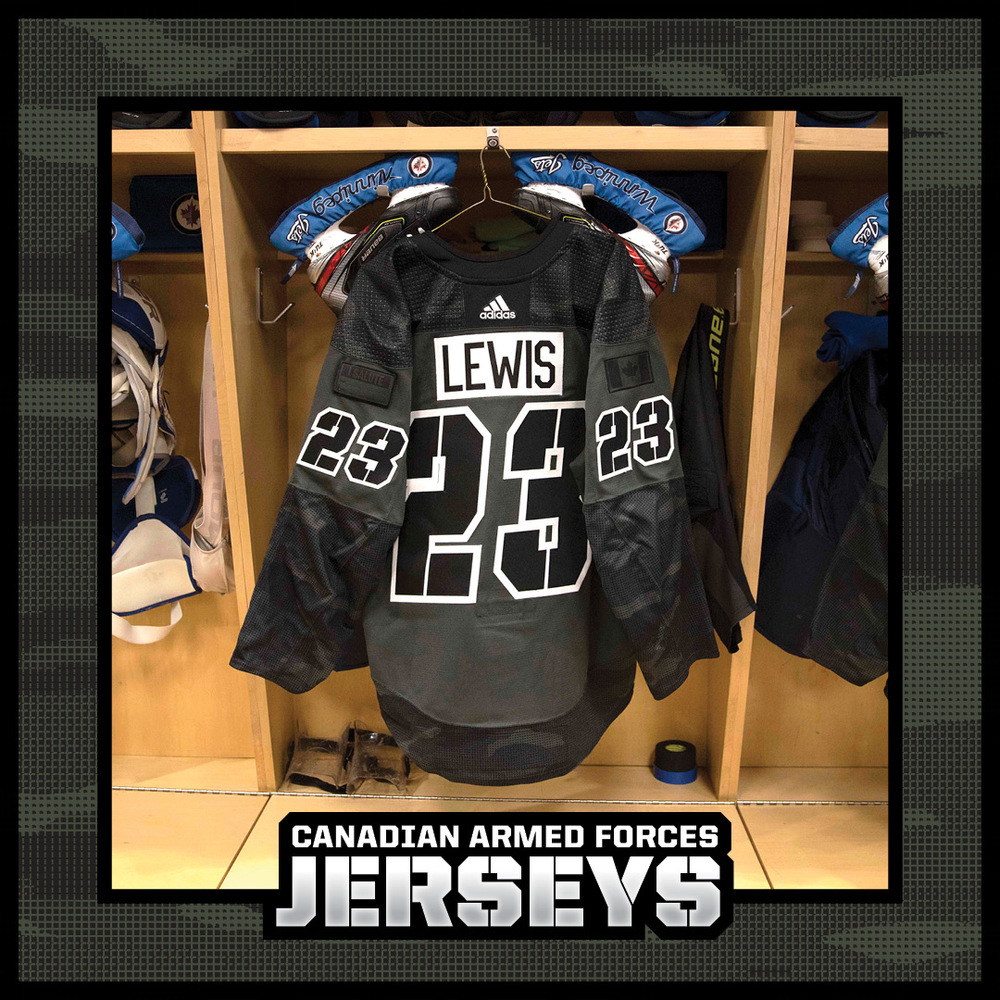 TREVOR LEWIS Warm Up Worn Canadian Armed Forces Jersey