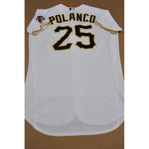 Photo of Gregory Polanco Game-Used Home Jersey - 7/27/20 MIL vs. PIT