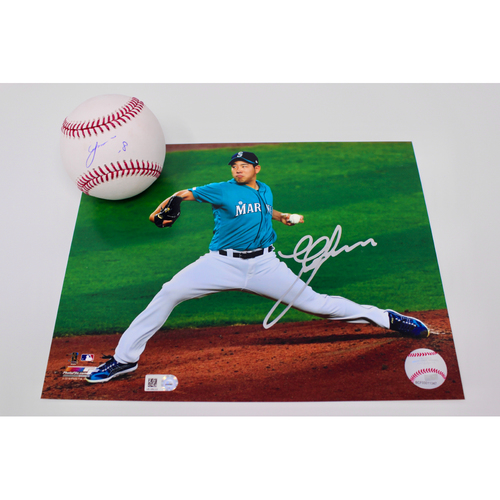 Photo of Mariners Care: Yusei Kikuchi Autographed Baseball & Photo