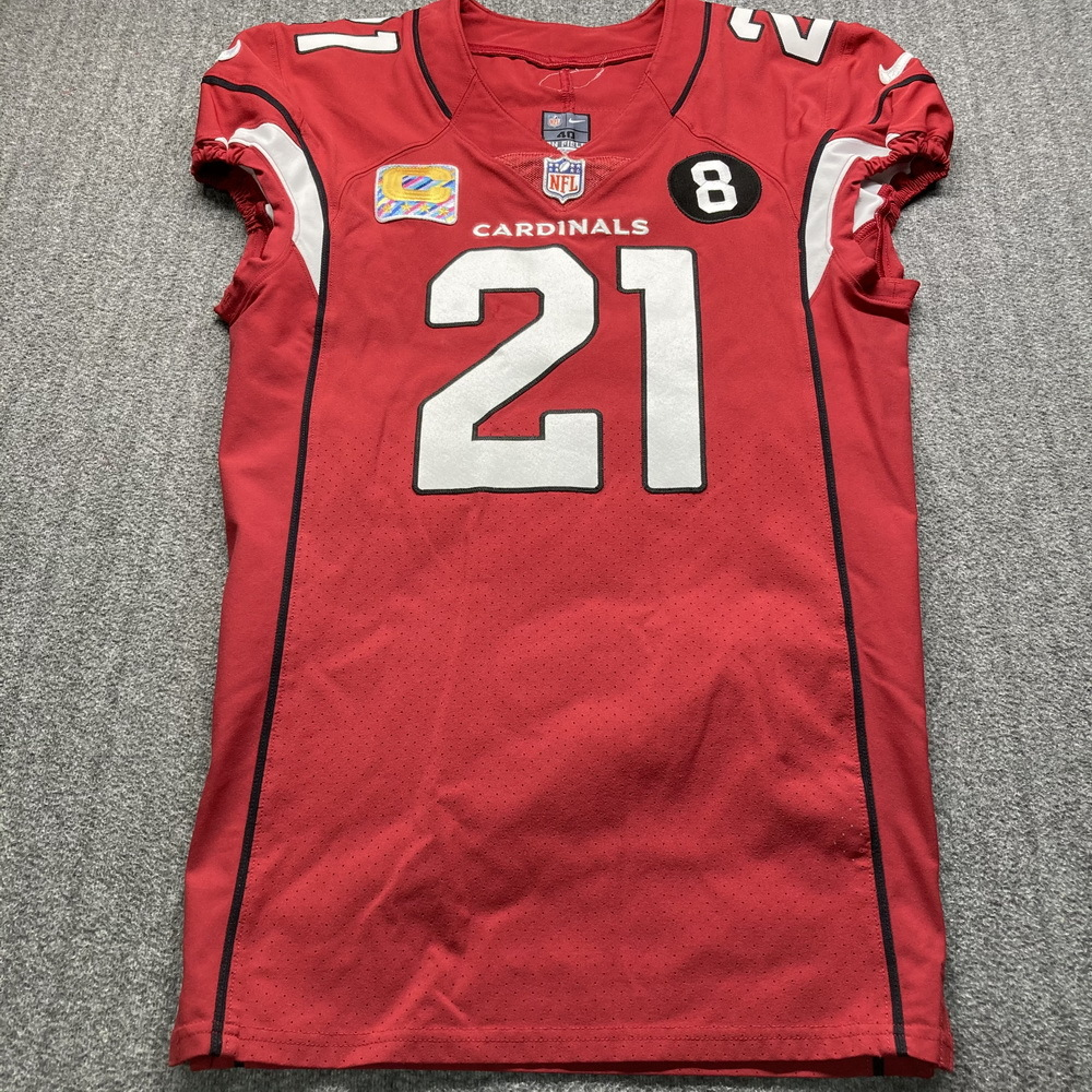 Crucial Catch - Cardinals Patrick Peterson Game Used Jersey Size 40