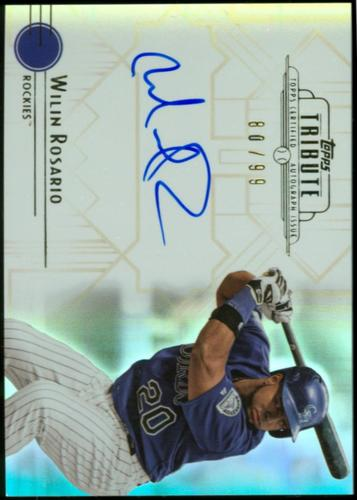 Photo of 2014 Topps Tribute Autographs #TAWR Wilin Rosario
