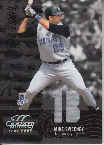 Photo of 2005 Leaf Century Material Fabric Position #91 Mike Sweeney Jsy/250