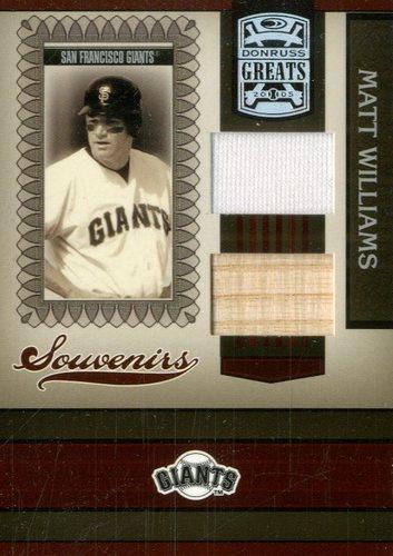 Photo of 2005 Donruss Greats Souvenirs Material Combo #13 Matt Williams Bat-Jsy T2