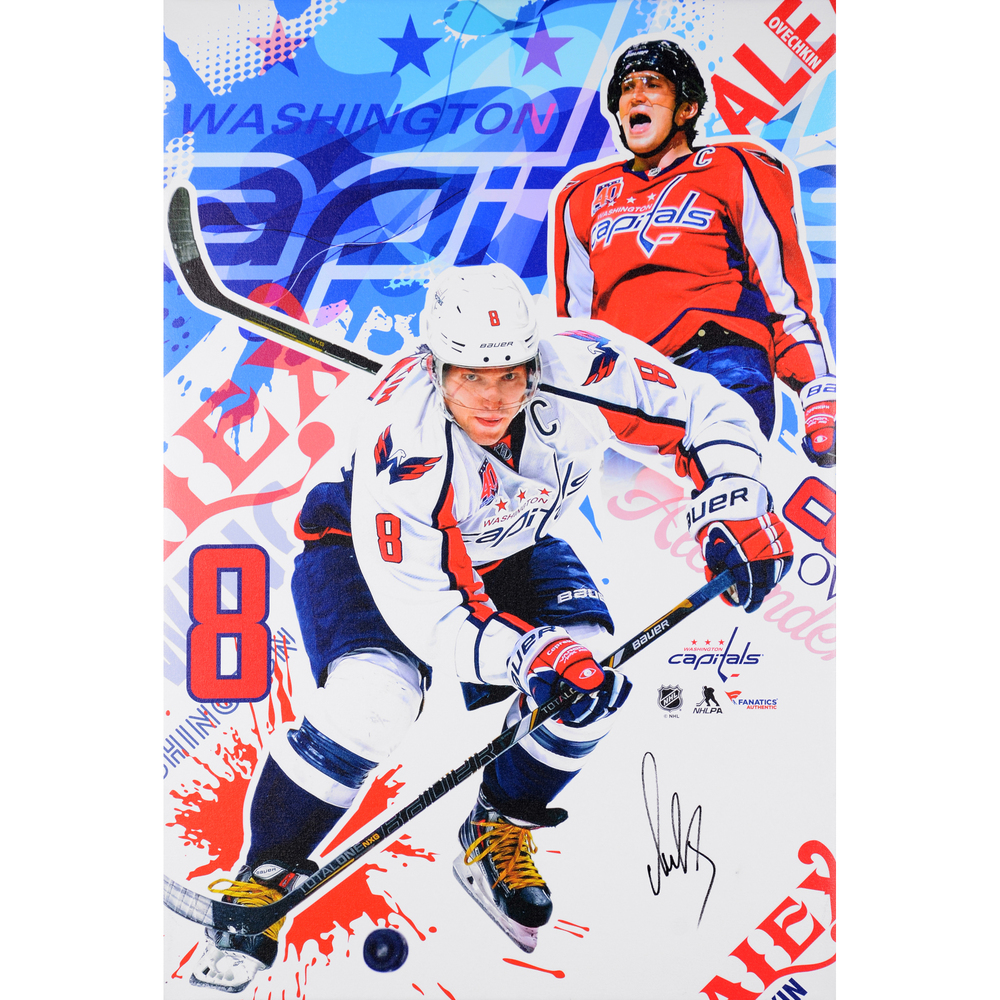 Alex Ovechkin Washington Capitals Autographed Stretched and Gallery Wrapped 25