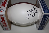 HOF - RAMS TOM MACK SIGNED PANEL BALL