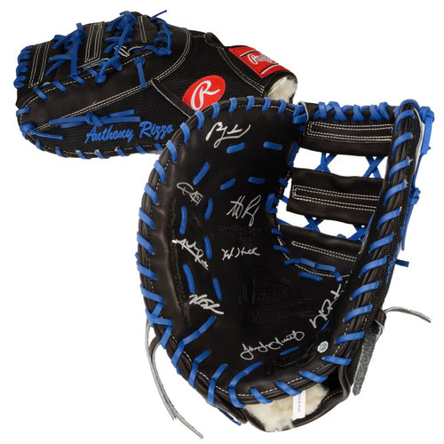 Chicago Cubs 2016 MLB World Series Champions Autographed Anthony Rizzo Game Model Glove with 9 Signatures. #1 In a Limited Edition of 10.