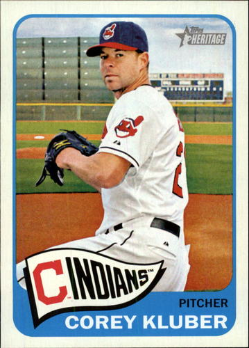 Photo of 2014 Topps Heritage #338 Corey Kluber -- Indians post-season