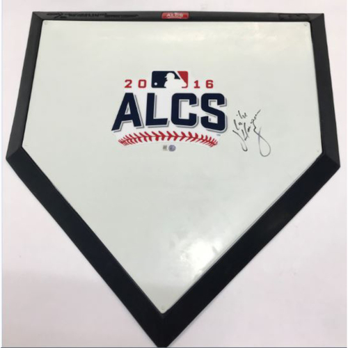Photo of 2016 ALCS Autographed Commemorative Home Plate
