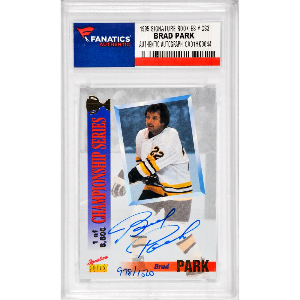 Brad Park Boston Bruins Autographed 1995 Signature Rookies #CS3 Card