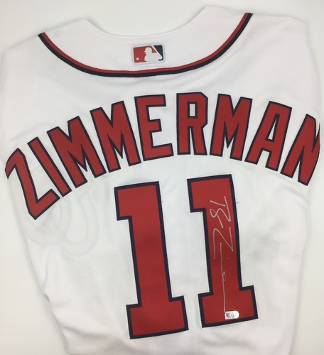 Photo of Ryan Zimmerman Autographed Authentic Nationals Jersey