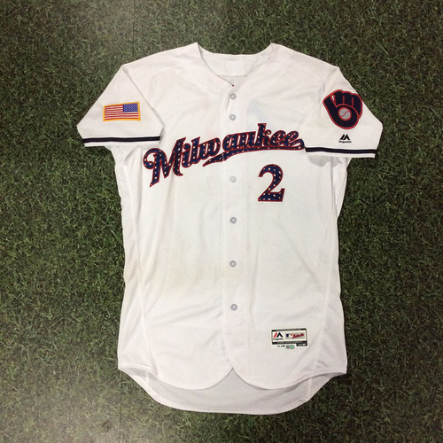 Photo of Nate Orf Game-Used 2018 Stars & Stripes Jersey - MLB Debut Game (7/2/18) & First Hit/HR Game (7/4/18)