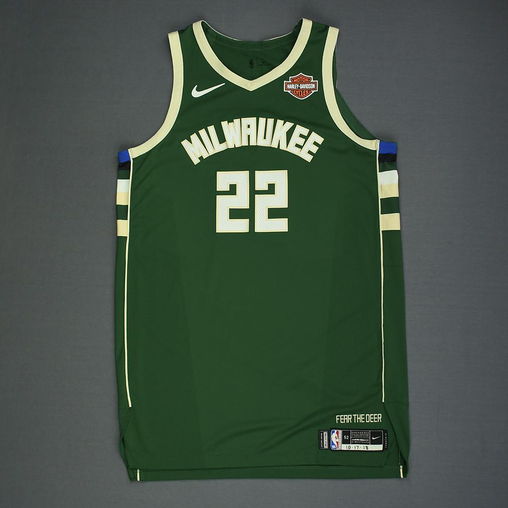 Khris Middleton - Milwaukee Bucks - Kia NBA Tip-Off 2018 - Game-Worn Icon Edition Jersey