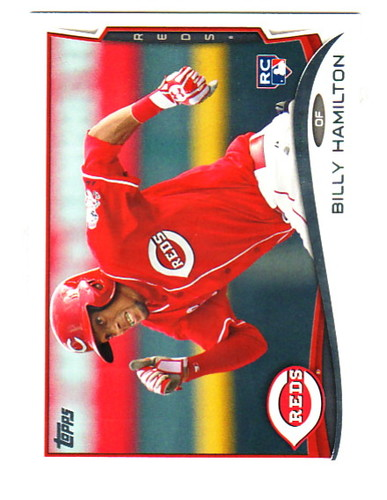 Photo of 2014 Topps #36A Billy Hamilton Rookie Card