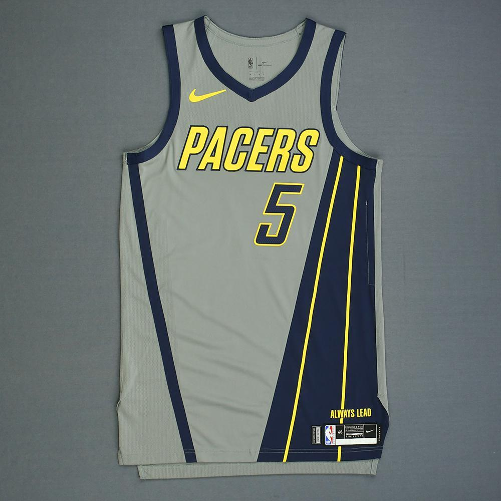 Edmond Sumner - Indiana Pacers - Game-Worn City Edition Jersey - Dressed, Did Not Play - 2018-19 Season