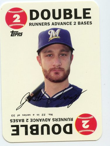 Photo of 2015 Topps Archives '68 Topps Game Inserts #22 Jonathan Lucroy